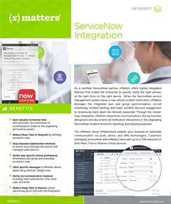 ServiceNow Integration Datasheet
