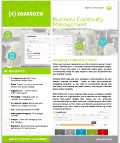 Datasheet: Business Continuity Management