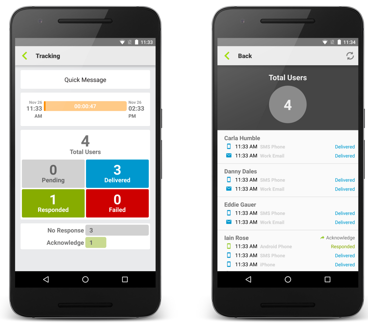 Enhanced Tracking Report for the Android app