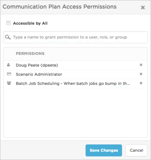 Grant access permission to users, roles, or groups