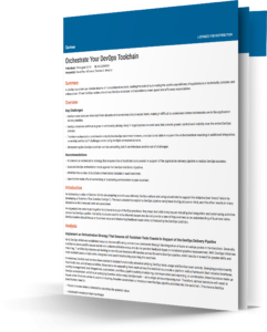 gartner, gartner report, devops, devops toolchain, how to build a devops toolchain, xmatters whitepaper